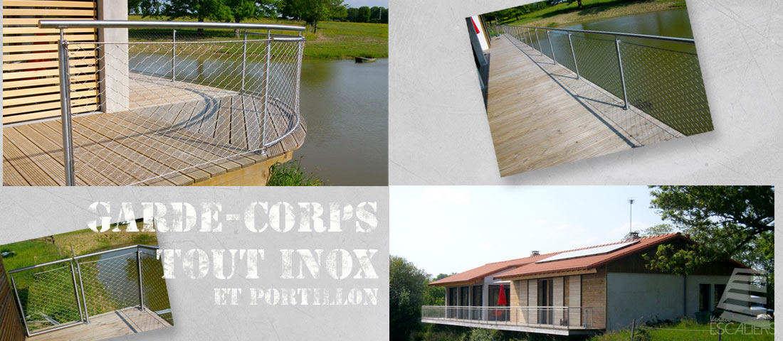 garde-corps rampe inox fabrication vendee particuliers professionnels sur mesure